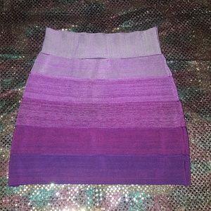 Bebe bodycon striped mini skirt S purple